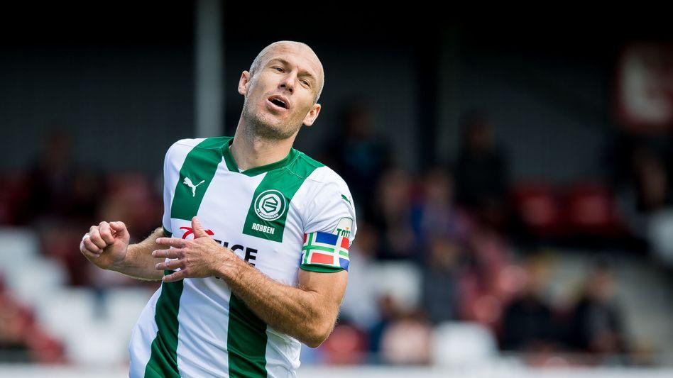 Arjen Robben bei einem seiner letzten Einsätze im Trikot des FC Groningen