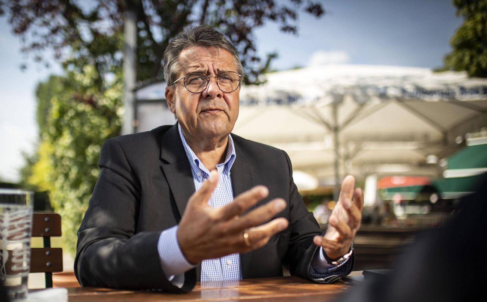 Interview mit Sigmar Gabriel SPD Bundesaussenminister a D und Vorsitzender der Atlantik Bruecke
