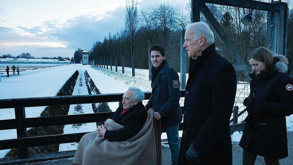 Besucher Biden in Dachau 2015:»Man darf nicht schweigen«