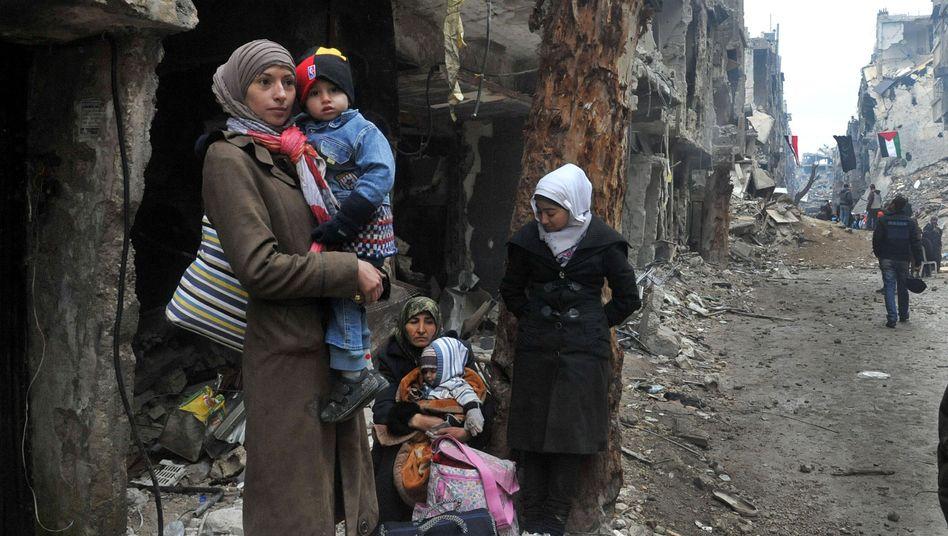 Palästinensische Flüchtlinge in Jarmuk (Archiv): Verheerende Lage