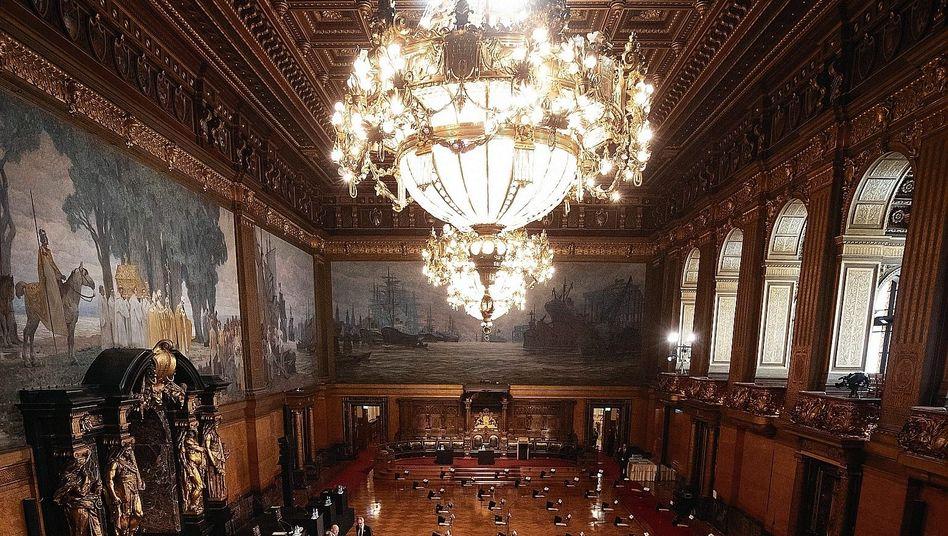 Großer Festsaal im Hamburger Rathaus vor Bürgerschaftssitzung: »Gefährliche Mischung«