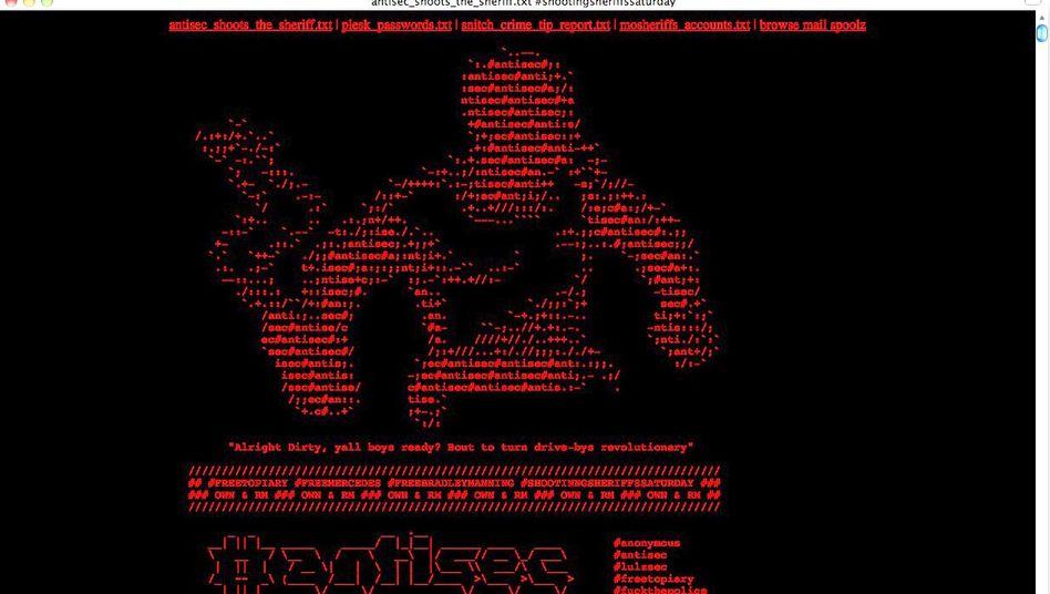 """Mitteilung der Hacker: """"Ihr verliert den Cyberwar"""""""