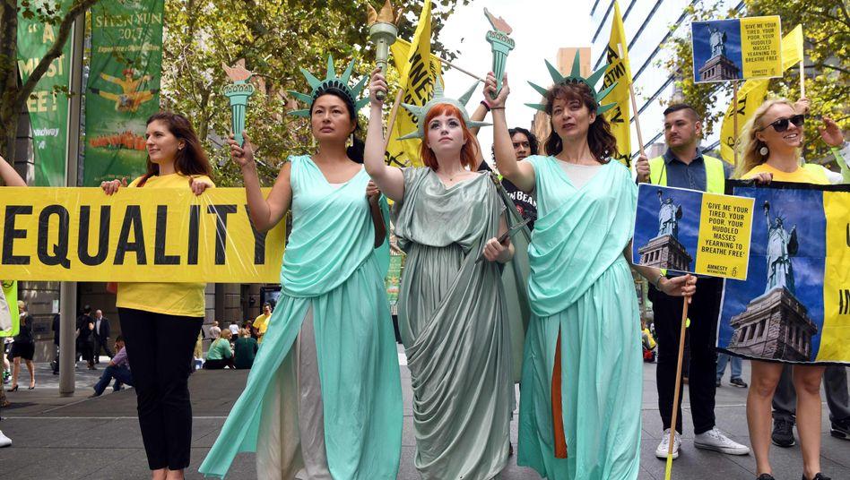 Anti-Trump-Proteste (in Sydney)