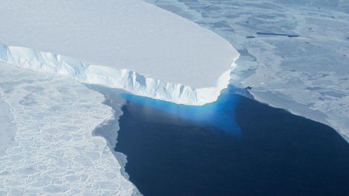 Thwaites-Gletscher im Jahr 2014: Wichtige Bremsfunktion