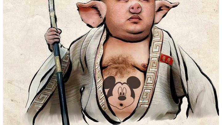 Karikatur des Diktators: Normalerweise verbreitet der Kanal Propagandameldungen