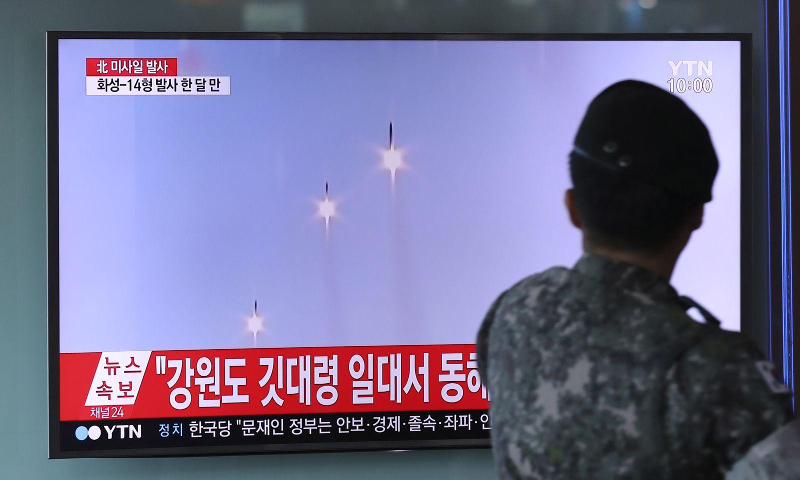 Raketentests in Nordkorea