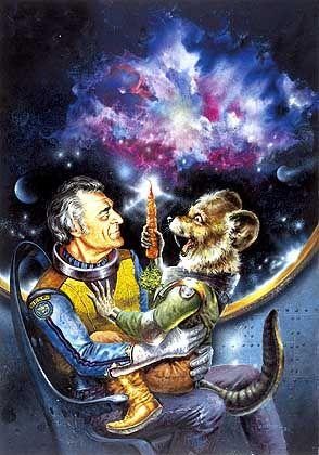 """Autor Ernsting mit Lieblingsfigur Gucky (Serien-Artwork): Sogar finsteren Sterneimperatoren sofort das """"Du"""" aufgedrückt"""""""