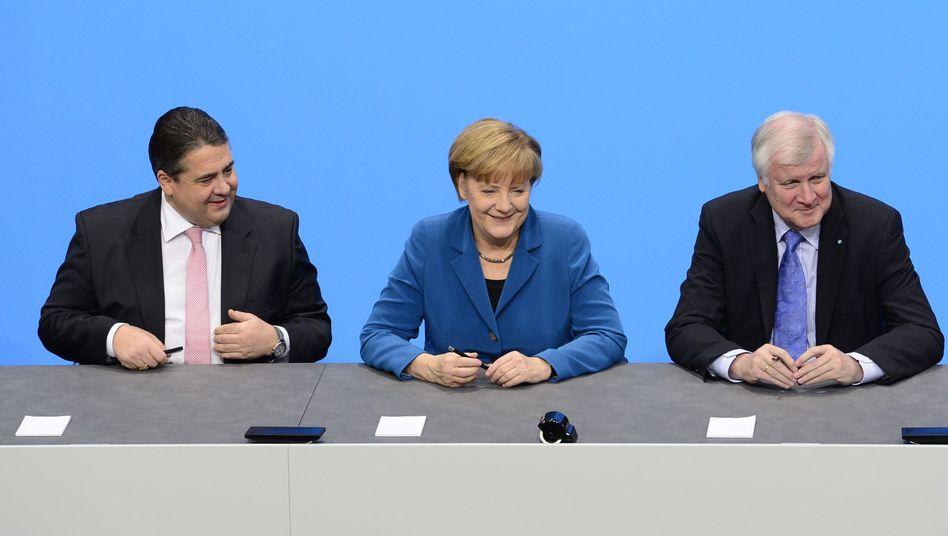 Neue Bundesregierung: Parteichefs unterzeichnen schwarz-roten Koalitionsvertrag