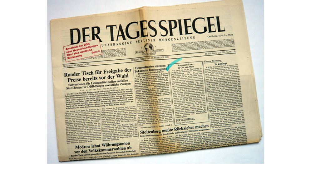 Presse der Wendejahre: West-Zeitung am Ost-Kiosk
