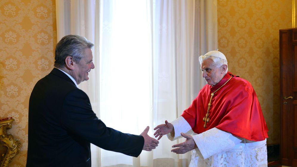 Gauck beim Papst: Protestant aus Rostock im Vatikan