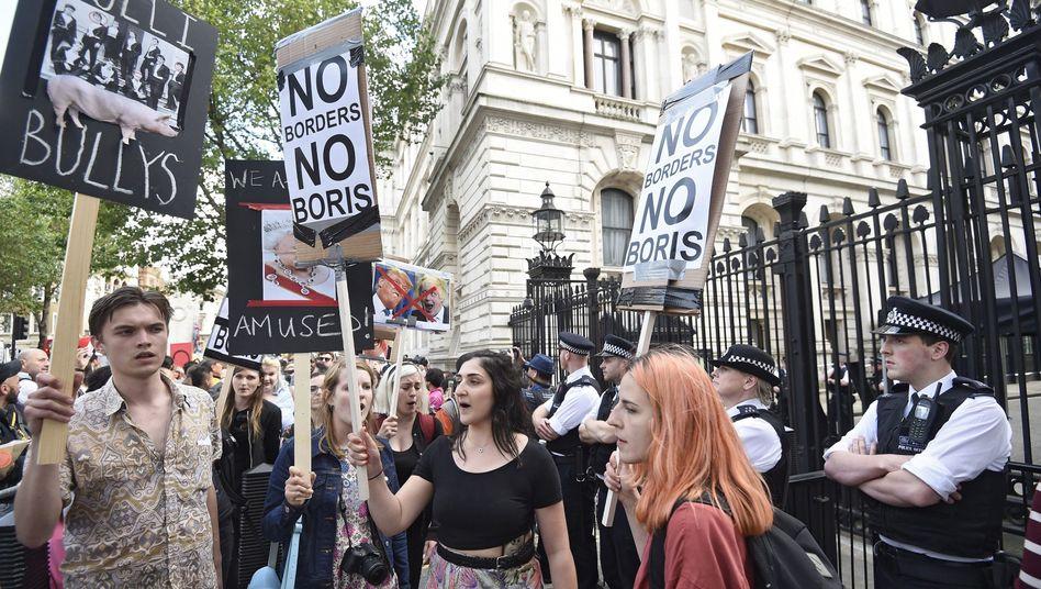 Junge Briten demonstrieren für den Verbleib in der EU