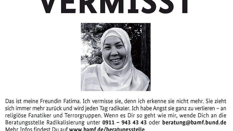 Plakat der Aktion »Vermisst«
