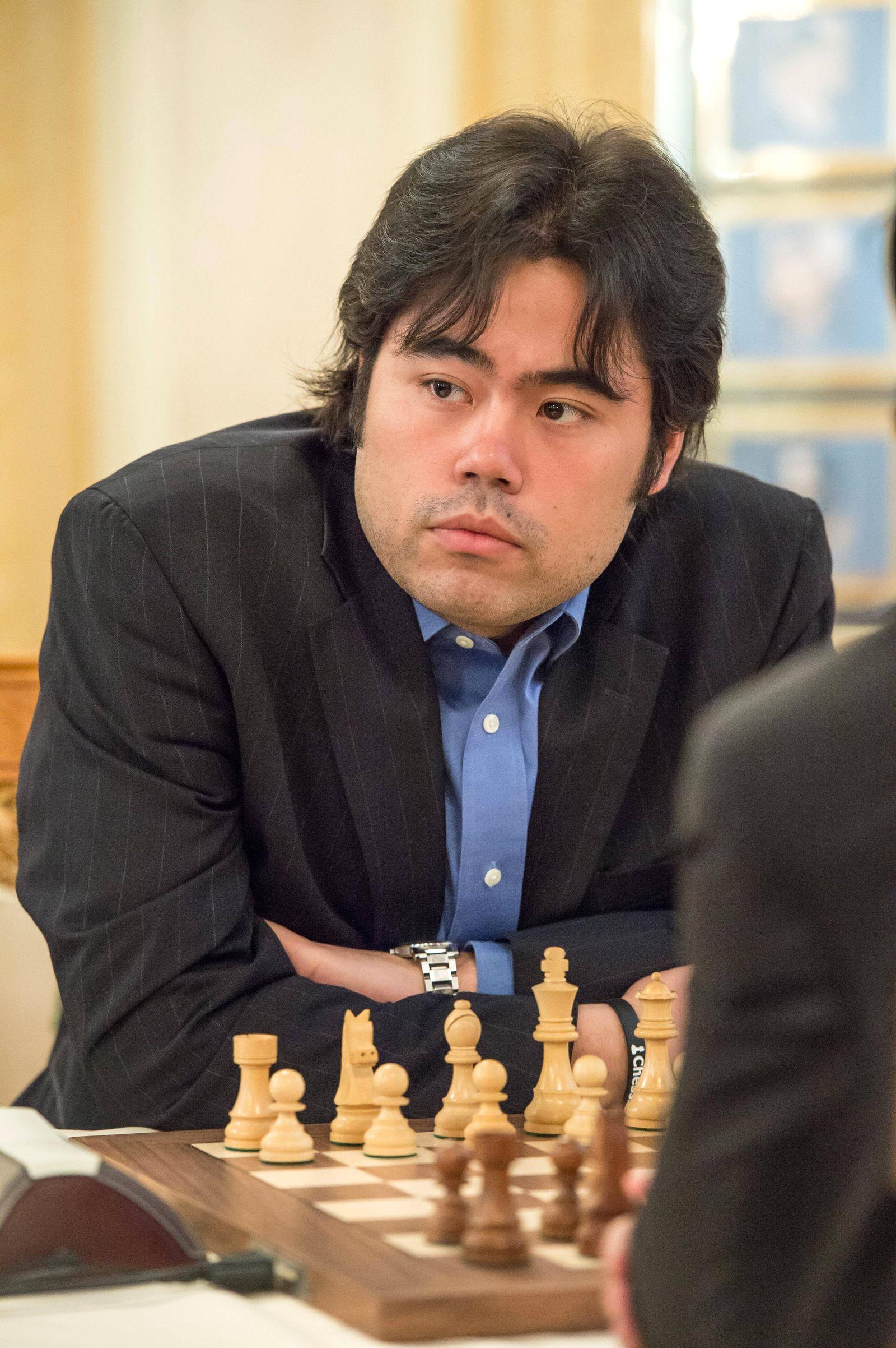 EINMALIGE VERWENDUNG Schachspieler/ Schach/ Hikaru Nakamura