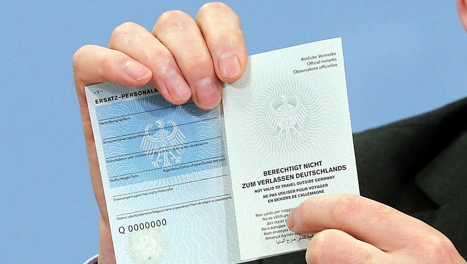 Ersatzpersonalausweis für Islamisten: Mit diesem Papier kann man Deutschland nicht verlassen