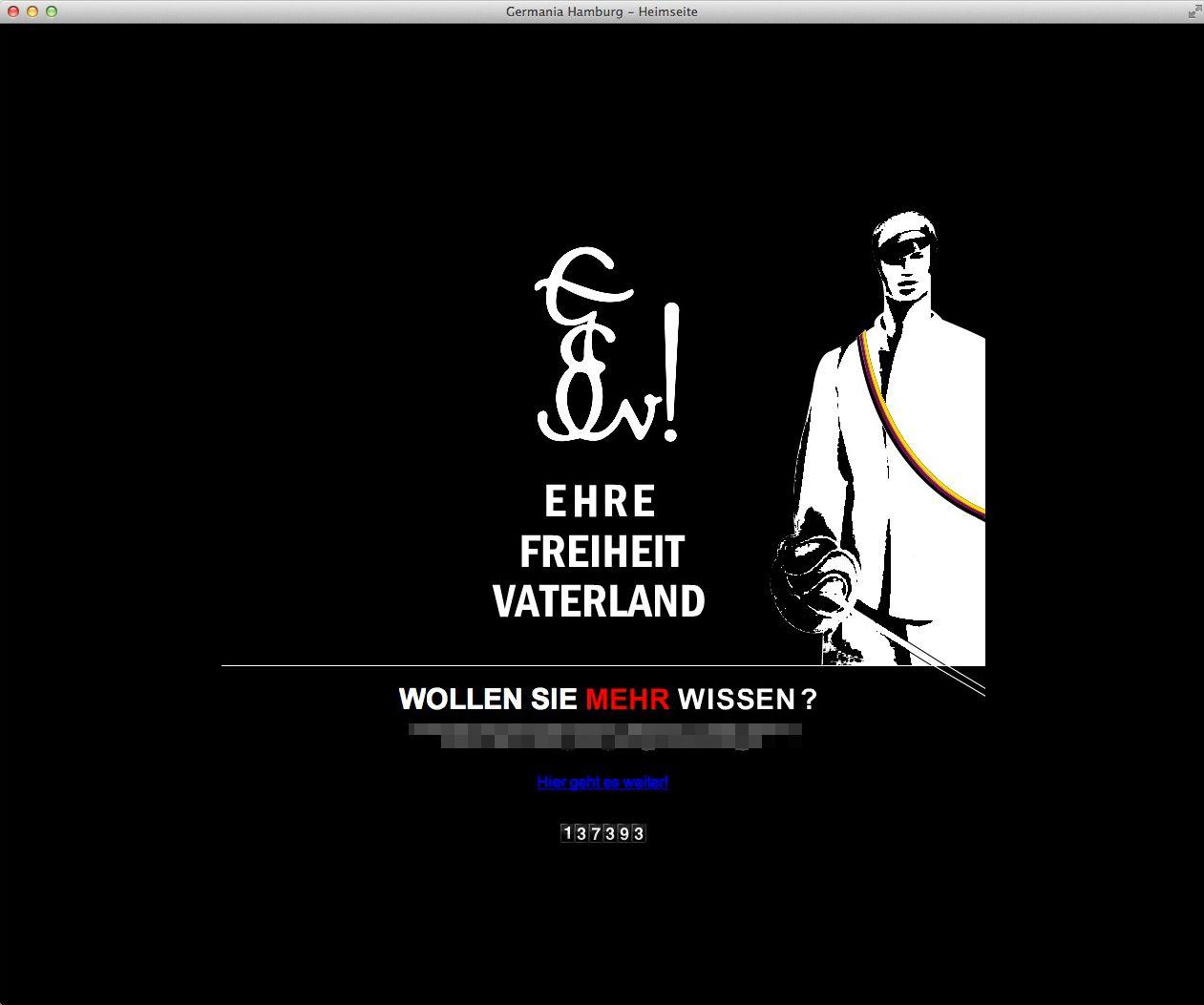 EINMALIGE VERWENDUNG NUR ALS ZITAT Screenshot Germania Hamburg