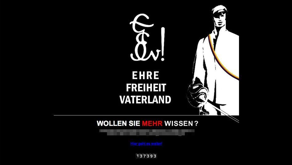 """Germania Hamburg (Screenshot): """"Ehre, Freiheit, Vaterland"""" - der Wahlspruch der Burschenschaft"""