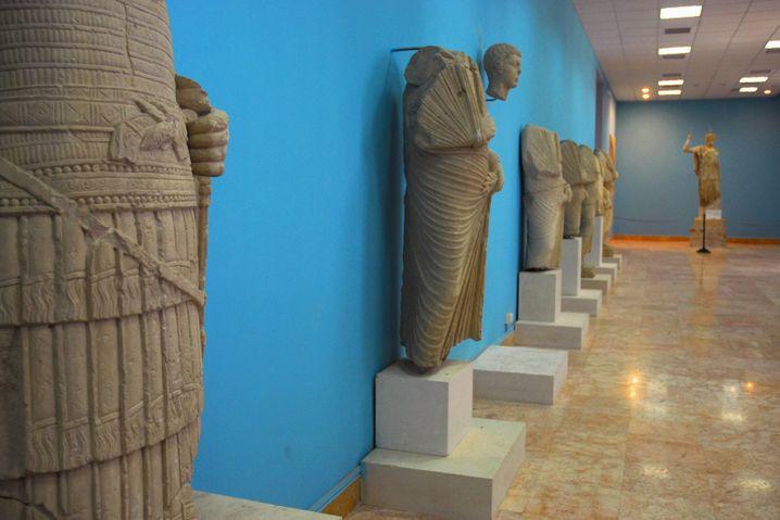 Statuen im Museum von Palmyra: Noch gibt es keine Berichte von Zerstörungen durch den IS