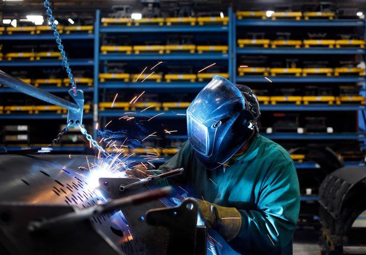 Montage in einer Landmaschinenfabrik in Pennsylvania: Noch stärkerer Wirtschaftseinbruch als zuerst geschätzt