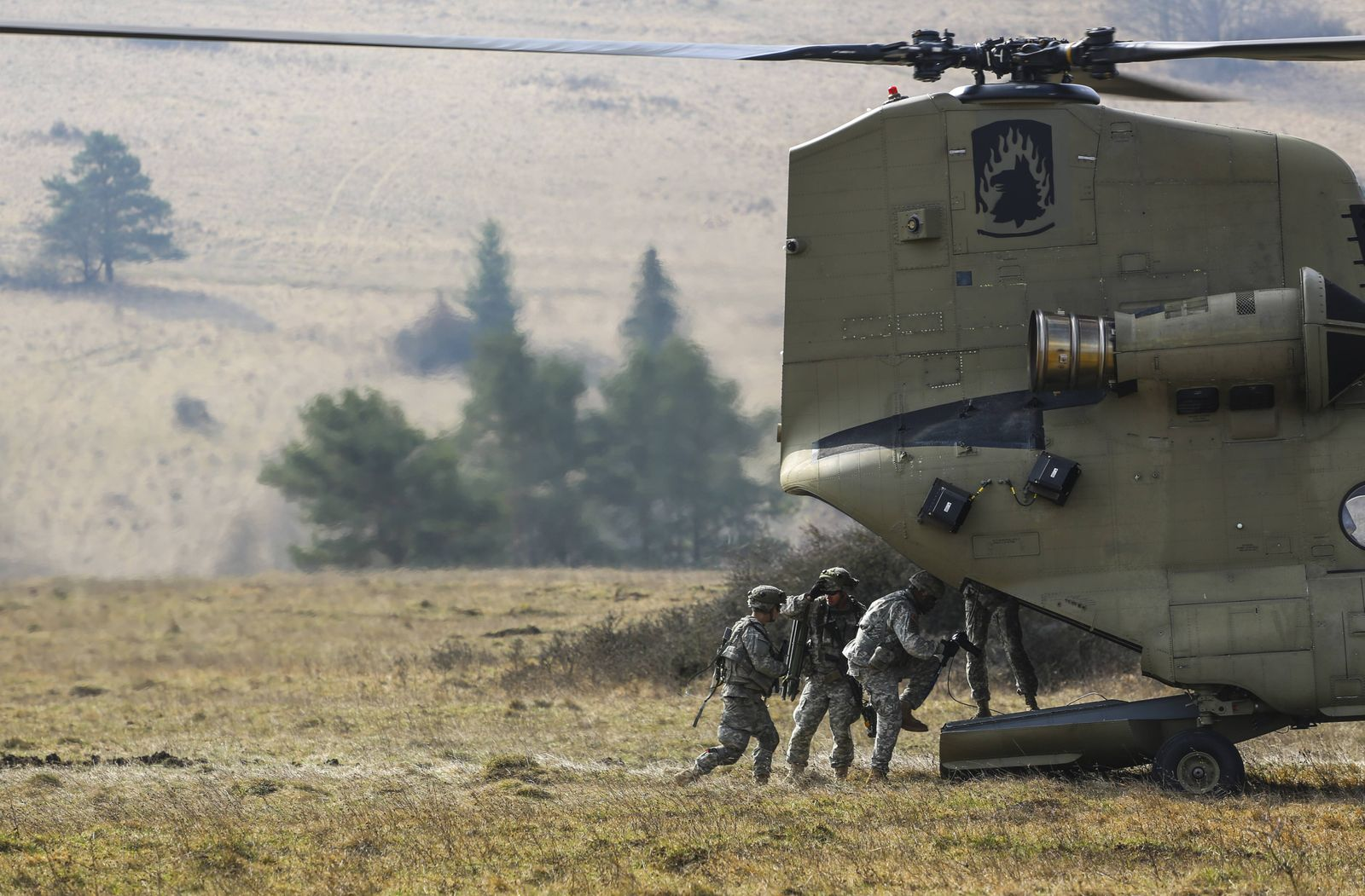March 17 2014 U S Army Soldiers board a CH 47 Chinook helicopter during a mission rehearsal exer