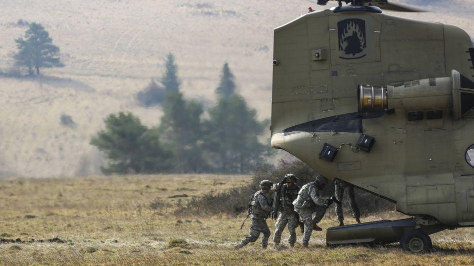 US-Soldaten bei einer Übung im bayerischen Hohenfels (2014)
