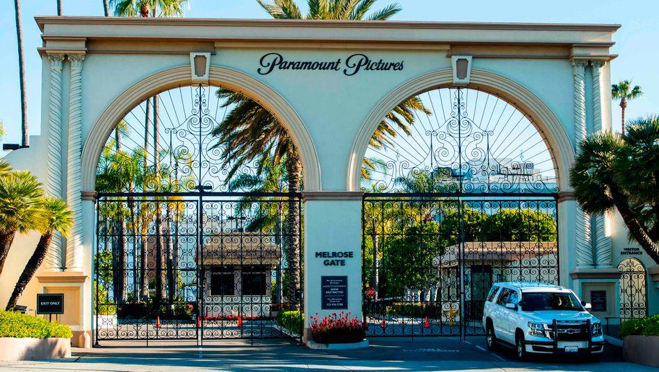 Das Paramount Studio in Hollywood während des ersten Drehstopps im April