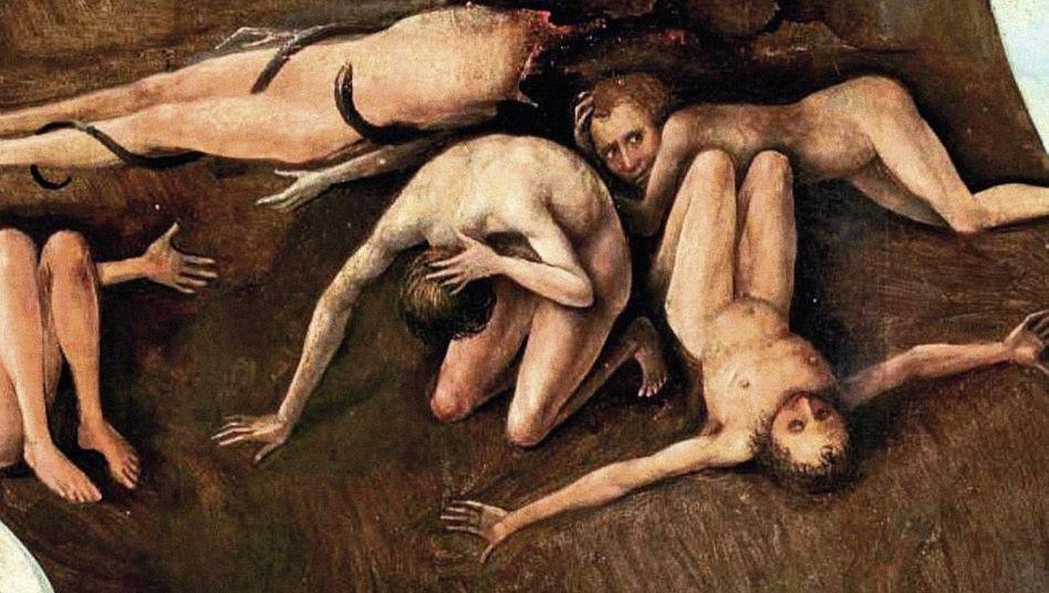 Ausschnitt aus Bosch-Gemälde »Das Jüngste Gericht«, um 1506