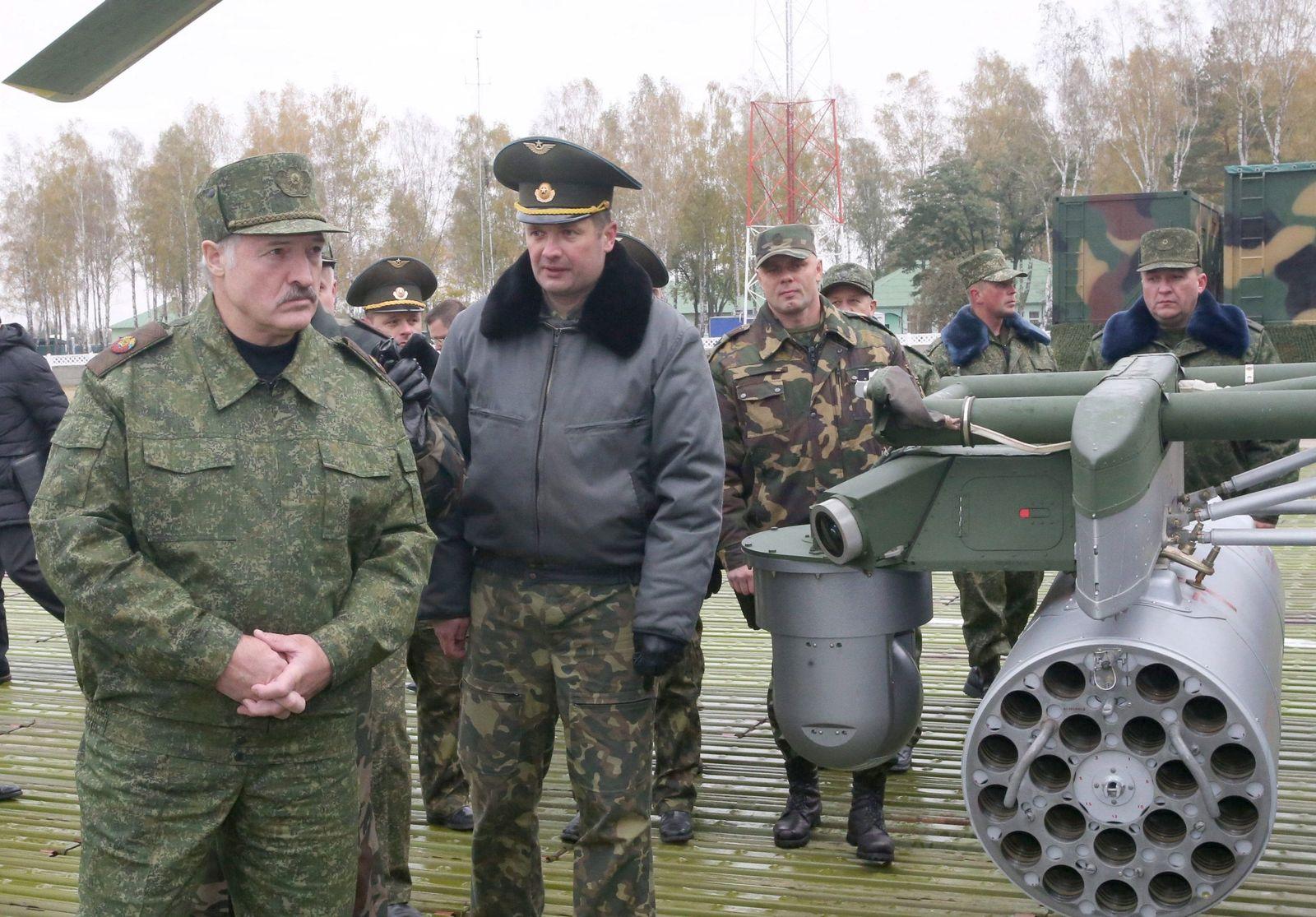 Belarus President Alexander Lukashenko at the 230 Obuz-Lesnovsky