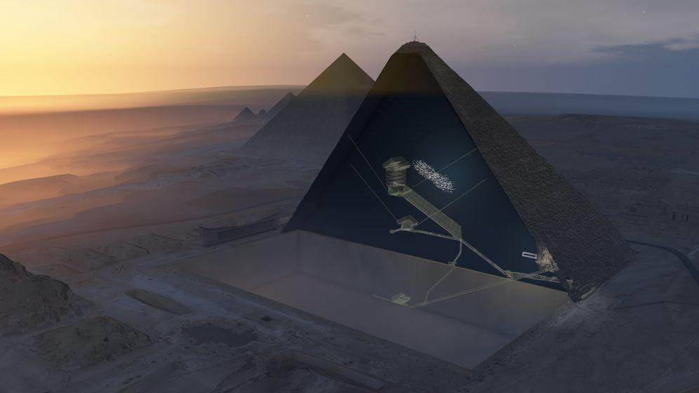 Giseh: Fund in der Cheopspyramide