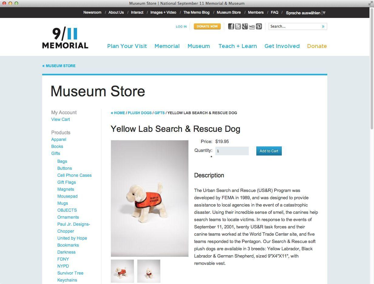 9/11 Museum Store