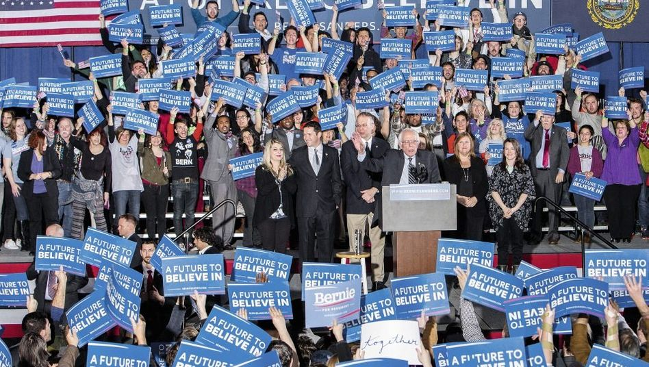 Vorwahlsieger Sanders am Dienstag in Concord, New Hampshire: »Seid ihr bereit für ein paar radikale Ideen?«