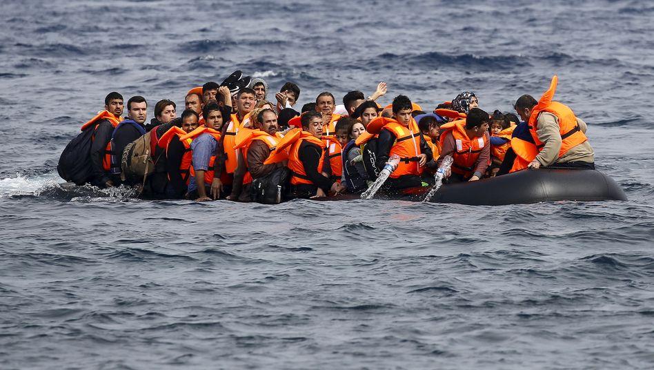 Flüchtlinge in der Ägäis (Archivbild)