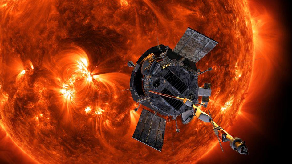 """""""Parker Solar Probe""""-Sonde der Nasa (künstlerische Darstellung)"""