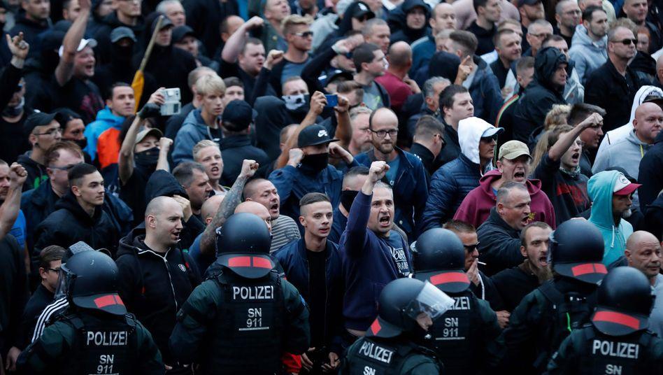Rechtsextremer Mob in Chemnitz