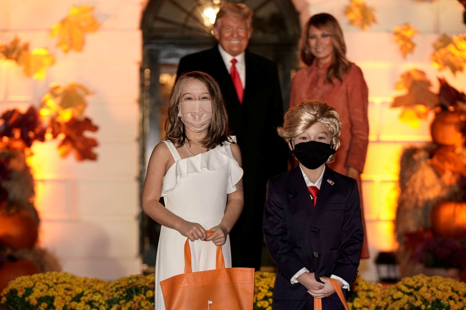 U.S. President Donald Trump and U.S. first lady Melania Trump host a Halloween event at the White House