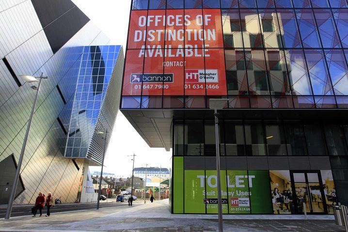 Leerstehende Bürogebäude in Dublin: Die Immobilienkrise hat Irland hart getroffen