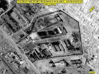 US-Satellitenbilder: Taliban-Militärgebäude in Kabul