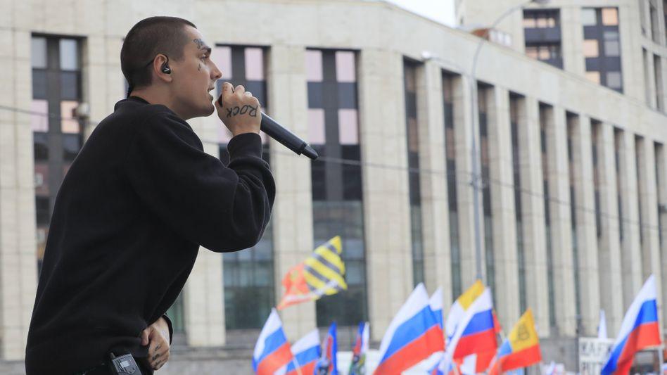 """""""Schlaf ein, meine Kalaschnikow"""". Rapper """"Face"""" in Moskau"""
