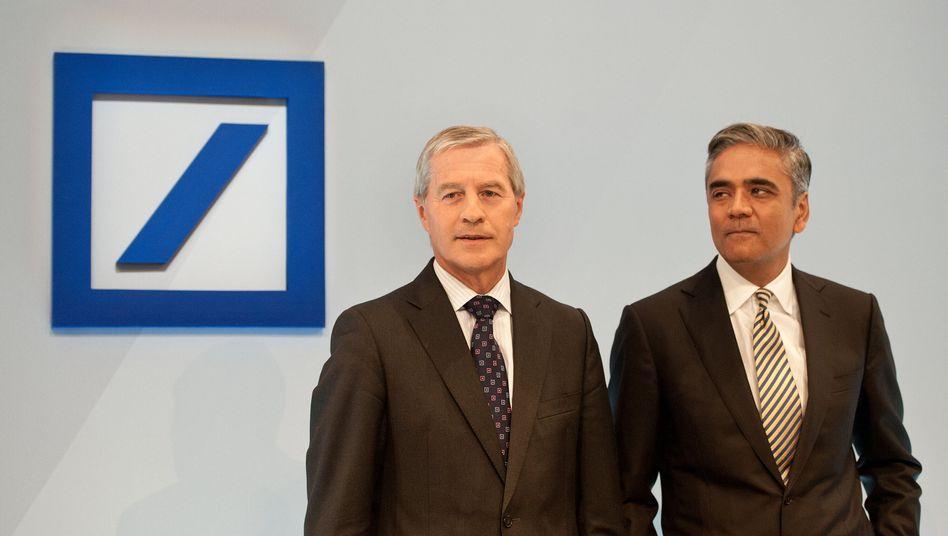 Deutsche Bank co-CEOs Jürgen Fitschen (left) and Anshu Jain.