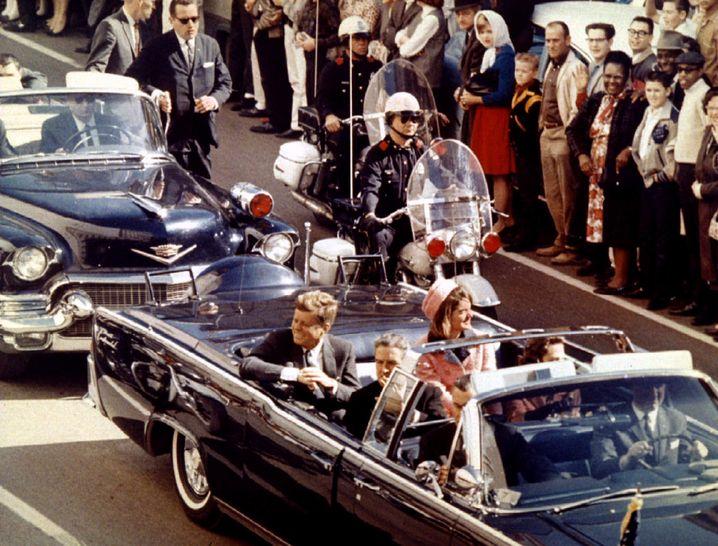 Der Moment kurz vor dem Attentat in Dallas (1963)