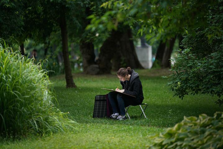 Der Gorki-Park heute: grün, kultiviert