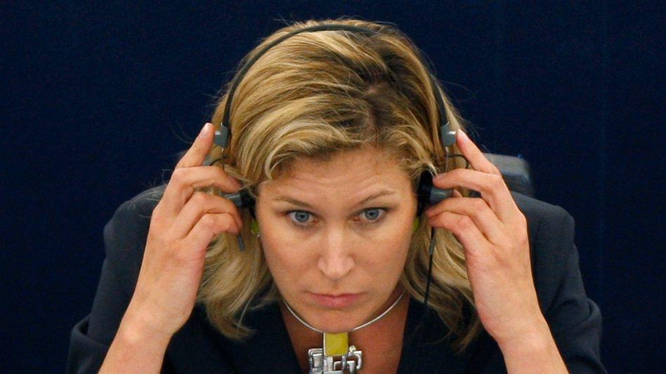 Koch-Mehrin im Europaparlament (Archivbild): Brüssel soll Tagesschau.de einfangen