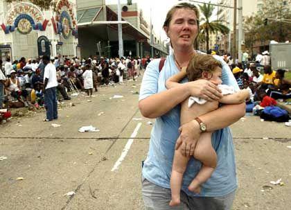 """Flüchtlinge in New Orleans: """"Dies ist ein verzweifelter Hilferuf"""""""