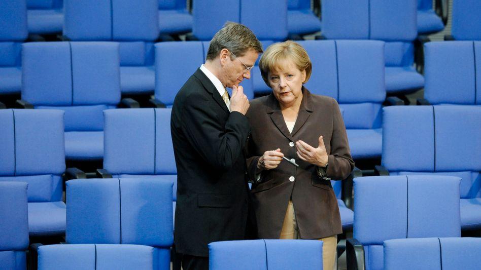 Bundeskanzlerin Merkel, FDP-Chef Westerwelle: Ringen ums Regierungsprogramm