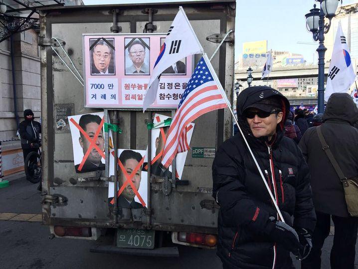 Protest gegen Kim