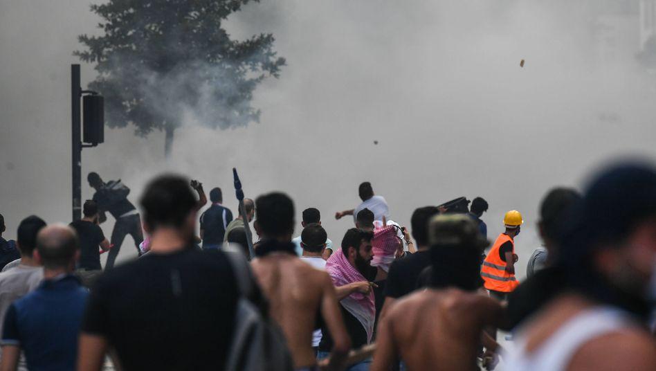 Heftige Proteste in Beirut