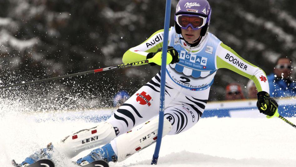 Skifahrerin Maria Riesch: Kämpft um ihren ersten Gewinn des Gesamtweltcups
