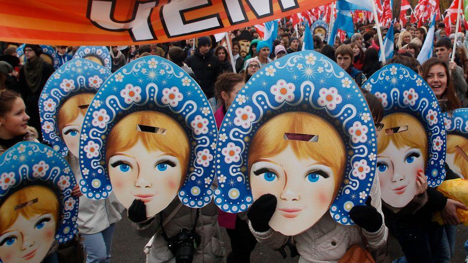 Demonstration der Kreml-nahen Jugendorganisation Nashi (Archivfoto)