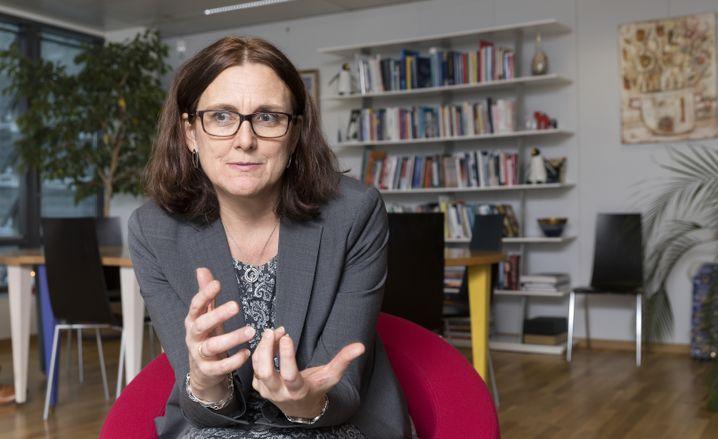 Cecilia Malmström, die EU-Kommissarin für Handel