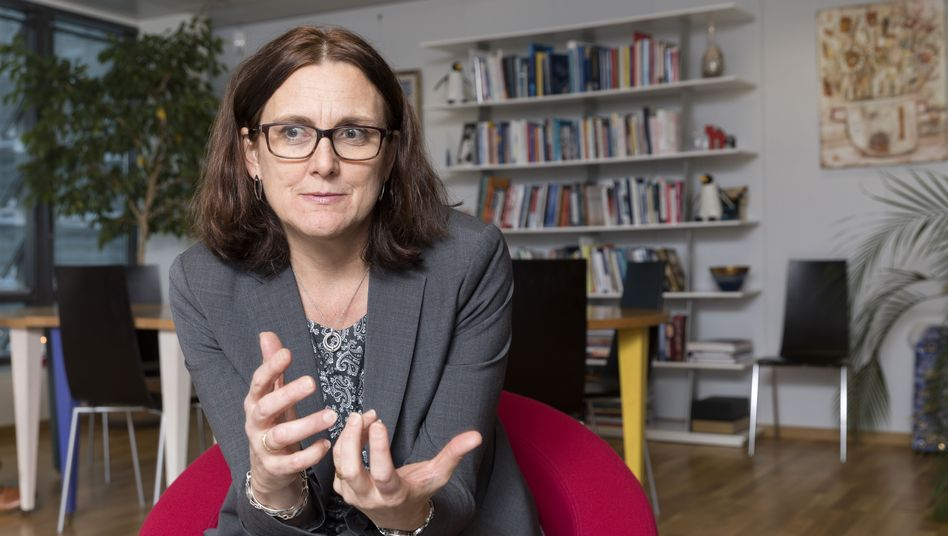 """European Trade Commissioner Cecila Malmström: """"If Trump goes through with his threat, we're prepared."""""""