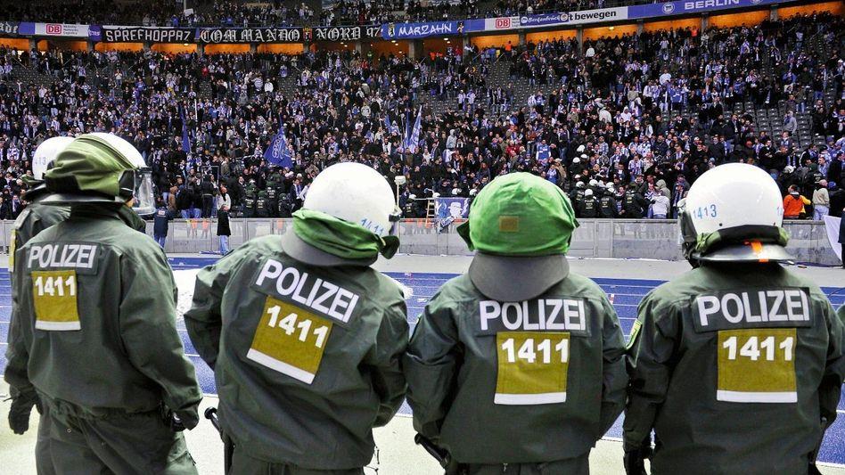Polizeieinsatz im Berliner Olympiastadion